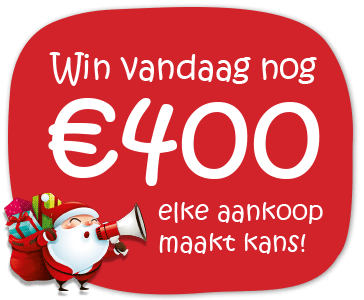 Win vandaag nog €400 met je kassabon of ordernummer..