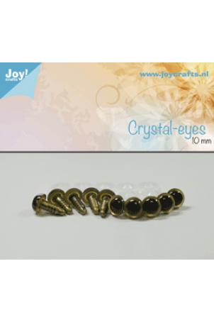 Kristal ogen beige 10 mm