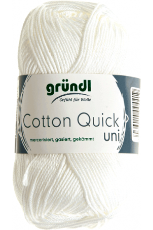 Cotton quick uni wit 50 gram