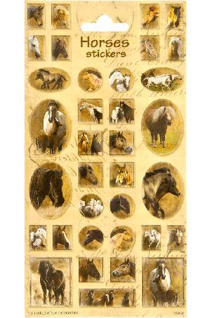 Sticker sheet paper Horses 3
