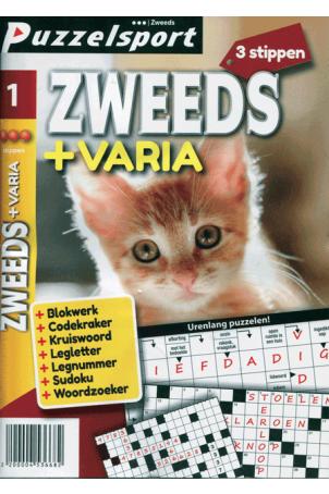 Puzzelpocket 50/50 zweeds + varia 3 stippen nr 1