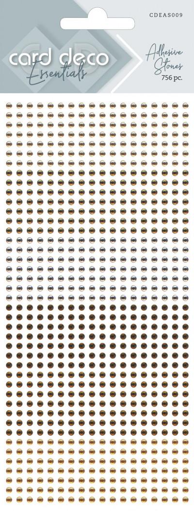 Zelfklevende glitterstenen bruin Card Deco Essentials