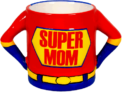 Keramiek beker, Super Mom