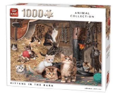 Puzzel Kittens in the Barn (1000 stukjes)