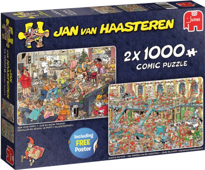 Legpuzzels Jan van Haasteren, Fijne feestdagen 2 x 1.000 stukjes