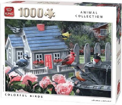 Legpuzzel Colorful birds 1000 stukjes