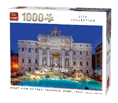 Puzzle Night view of Trevi fountain, Rome 1000 pcs
