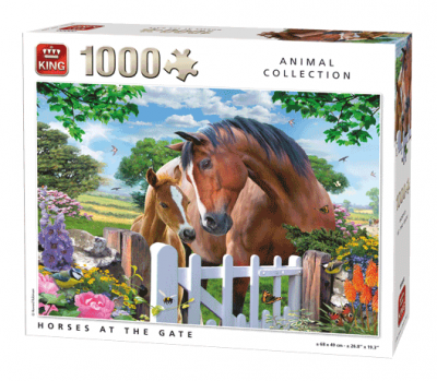 Legpuzzel horses at the gate 1000 PCS