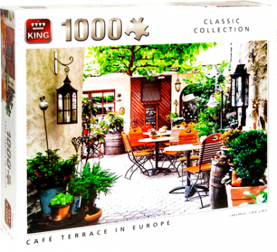 Puzzel Cafe terrace in europe (1000 stukjes)