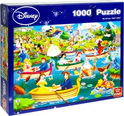 Legpuzzel Disney fun on the water 1000 stukjes