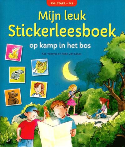 Mijn leuk Stickerboek AVI START +M3 Op kamp in het bos