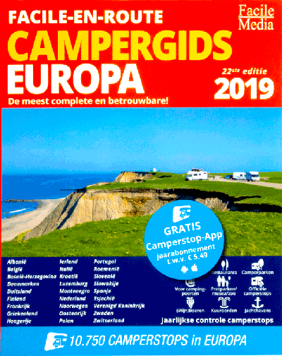Facile-en-route campergids Europa 2019