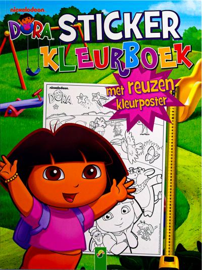 Dora Sticker kleurboek