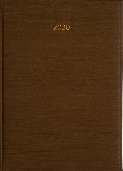 Weektimer agenda A4 2020 bruin nr 253