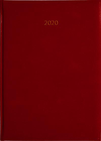 Weektimer agenda A4 2020 Rood nr 251