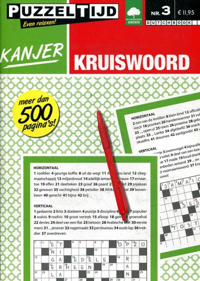Puzzelboek kanjer kruiswoord nr. 3 puzzeltijd