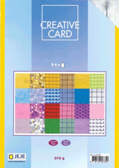 Creative Card papierblok 24 holografisch 14,9x21cm