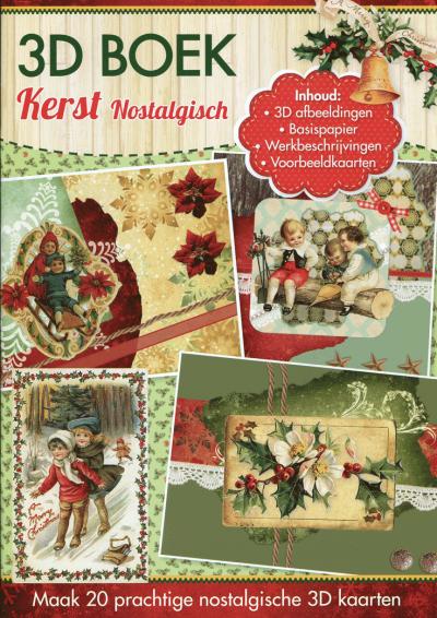A4 3D Boek Nostalgisch kerst