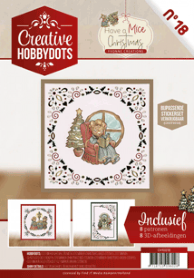 Creative hobbydots set 018 incl stickers Have a mice Christmas van Yvonne Creations