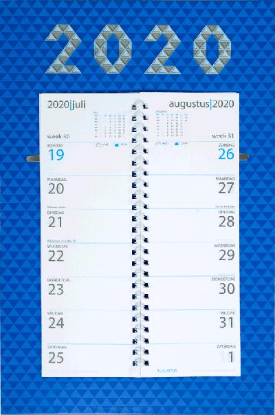Omleg weekkalender 2020 Business Blue