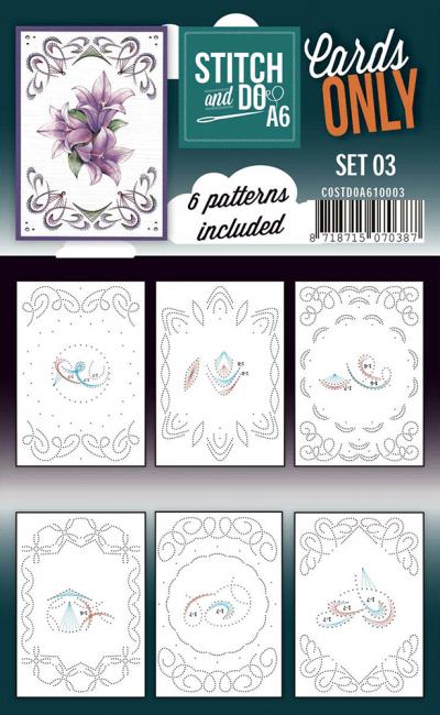 Stitch & Do cards only set 3 A6
