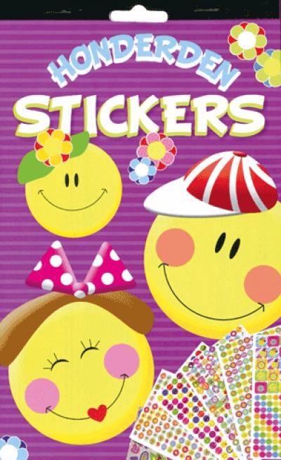 Stickerboek smileys/happy faces