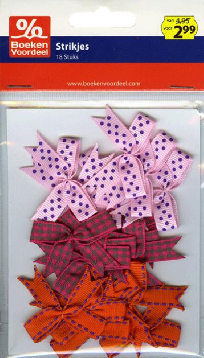 Strikjes roze/oranje Party2013