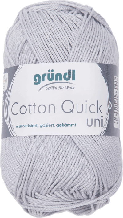 Cotton Quick Uni 129 LICHT GRIJS 50GR