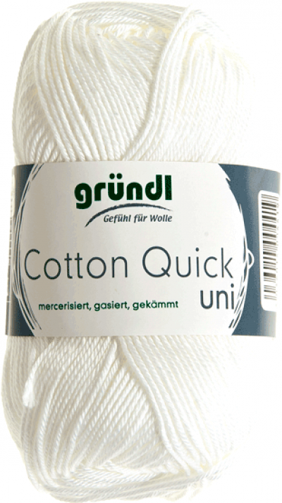 Cotton quick uni wit 50 gram