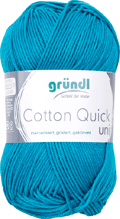 Cotton Quick Uni 143 PETROL BLAUW 50GR
