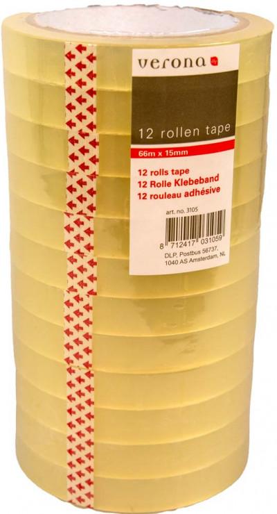 Tape 15mm x 66m 12 rolletjes