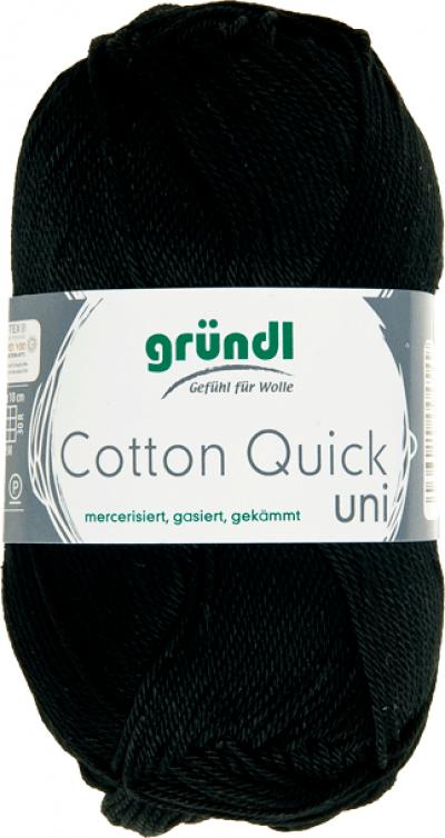 Cotton quick uni zwart 50 gram