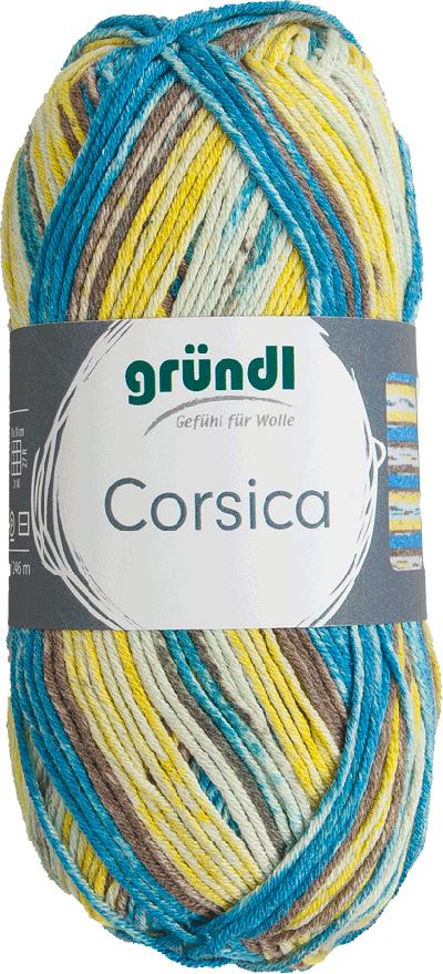 Corsica taupe vanille blauw gemeleerd