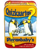 Quizkaarten Dierenbaby's