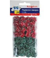 Papieren Roosjes Kerst Rood-Groen