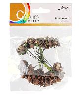 CU13 Papieren roosjes bruin