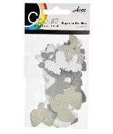 CU13 Papieren vlinders zwart-wit
