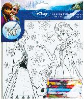 Frozen Puzzel om zelf te kleuren (21x21 cm)