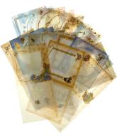 Vellum kaarten vierkant 20 vellen