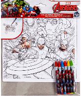 Avengers Kleur puzzel met 6 waskrijtjes