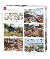 Puzzle 5 in 1 Classic 1000 pcs