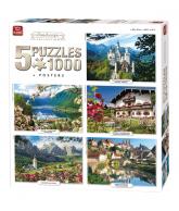 Puzzle 5 in 1 Landscape 1000 pcs