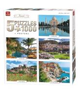 Puzzle 5 in 1 Travel 1000 pcs
