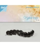 Kristal ogen bruin 12 mm