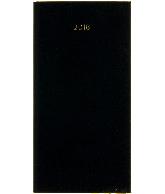 Zakagenda minitimer staand 2018, kleur zwart