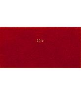 Zakagenda pockettimer liggend 2018, kleur rood