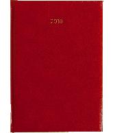 Weekagenda 2018 A4, kleur rood