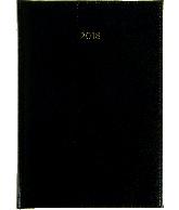 Weekagenda 2018 A5, kleur zwart