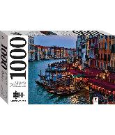Legpuzzel Gondolas and the grand canal, Venice, Italy 1000 pcs