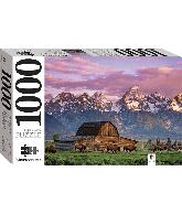 Legpuzzel mountains reflected in lake 1000 pcs